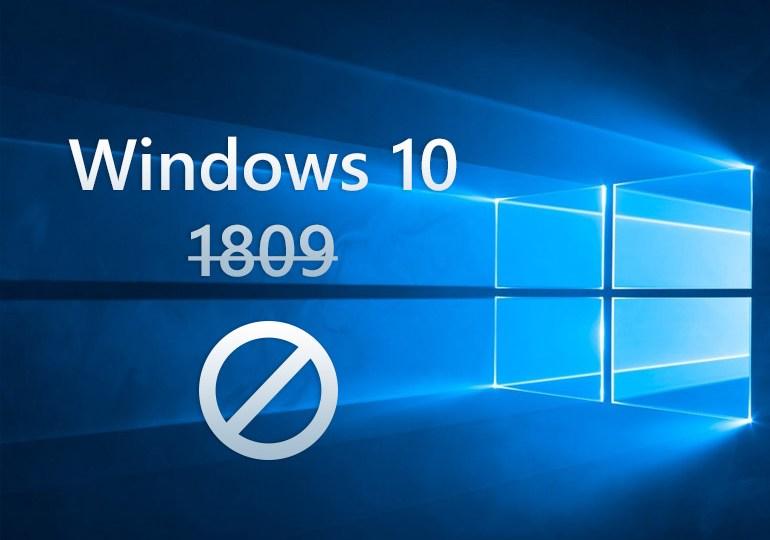 windows 10 october 2018 bloccato